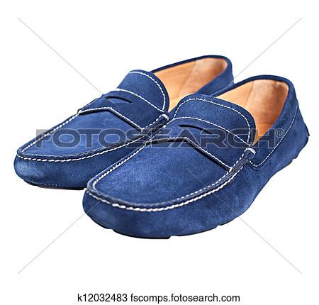 Blue Suede Shoes Clipart.