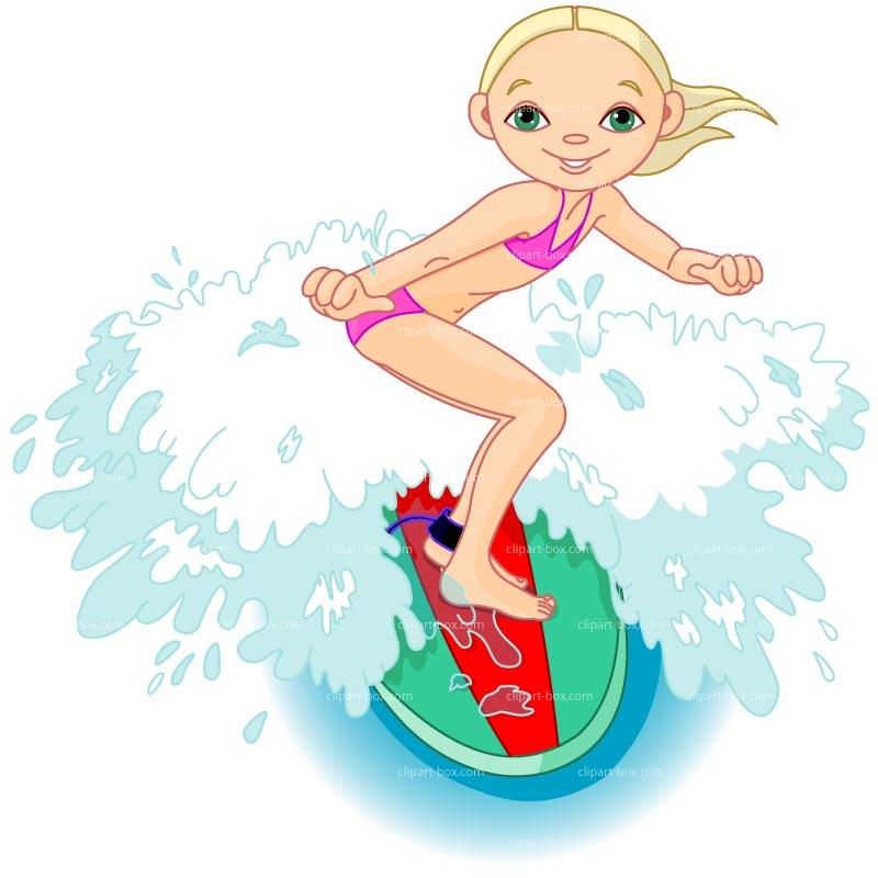 Surfers clipart.