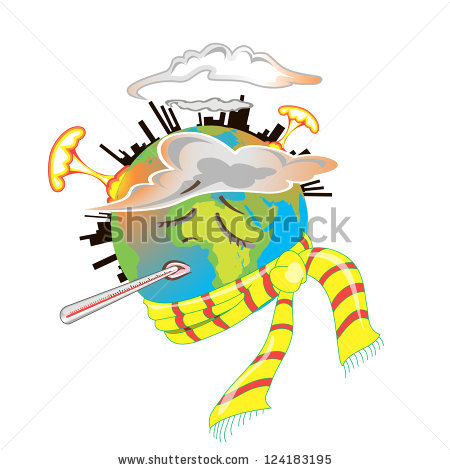 Earth Smoke Factories Nuclear Explosions Stock Vector 96286091.