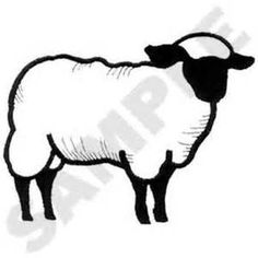 Suffock Sheep Clipart.