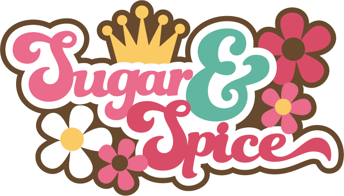 Sugar & Spice SVG scrapbook title girl svg scrapbook title girl.