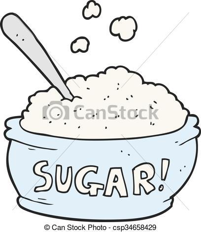 Vector Illustration of cartoon sugar bowl.