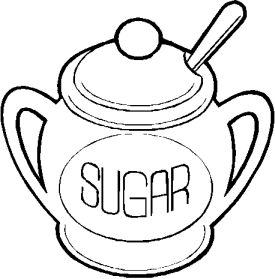 Clipart sugar bowl.