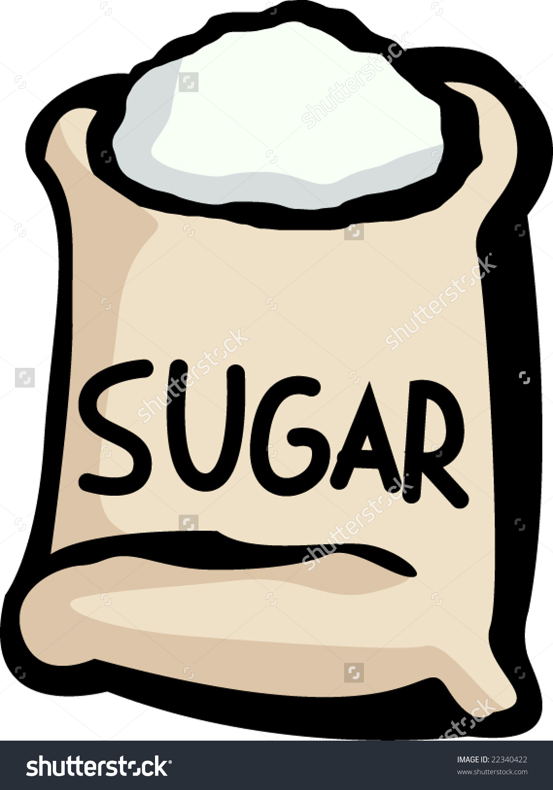 Clipart bag of sugar.