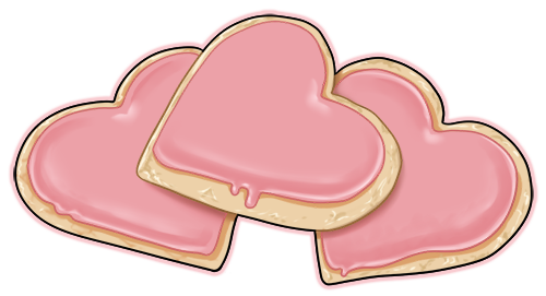 Heart shaped sugar cookies by wyngrew on deviantart clipart.