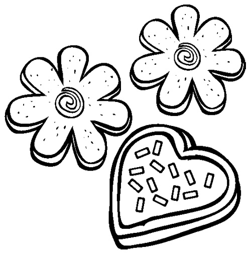 Sugar Cookie Clipart Black And White.