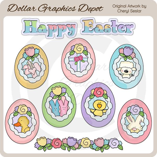 Easter Sugar Eggs.
