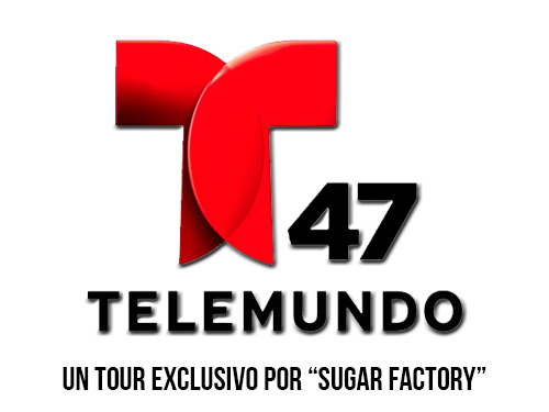 "Telemundo 47 Logo (Un tour exclusivo por ""Sugar Factory."