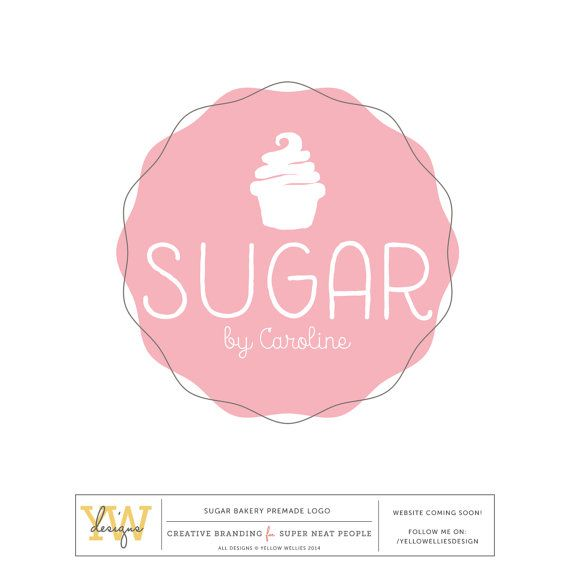 Tiered Cake Simple Premade Logo Design.