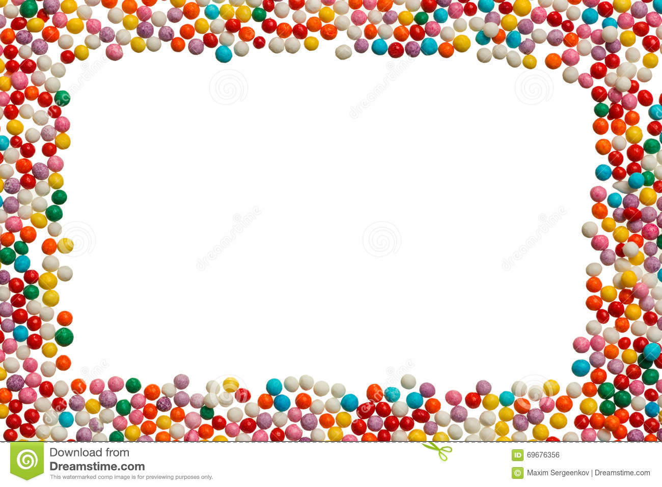 Background From Sugar Pearls For Food Decoration Stock Photo.
