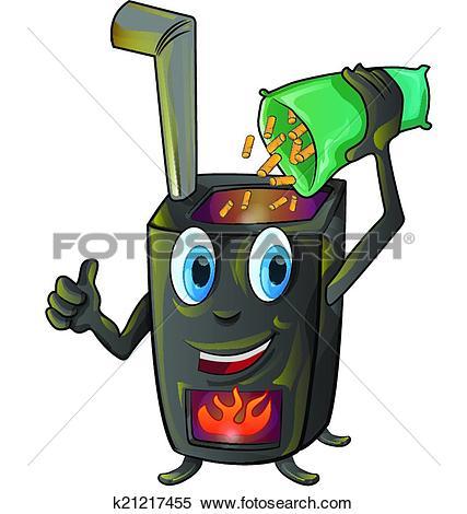 Clipart of pellet stove cartoon k21217455.