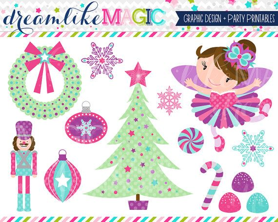 Sugar Plum Fairy Dreams Clipart for Personal or by.