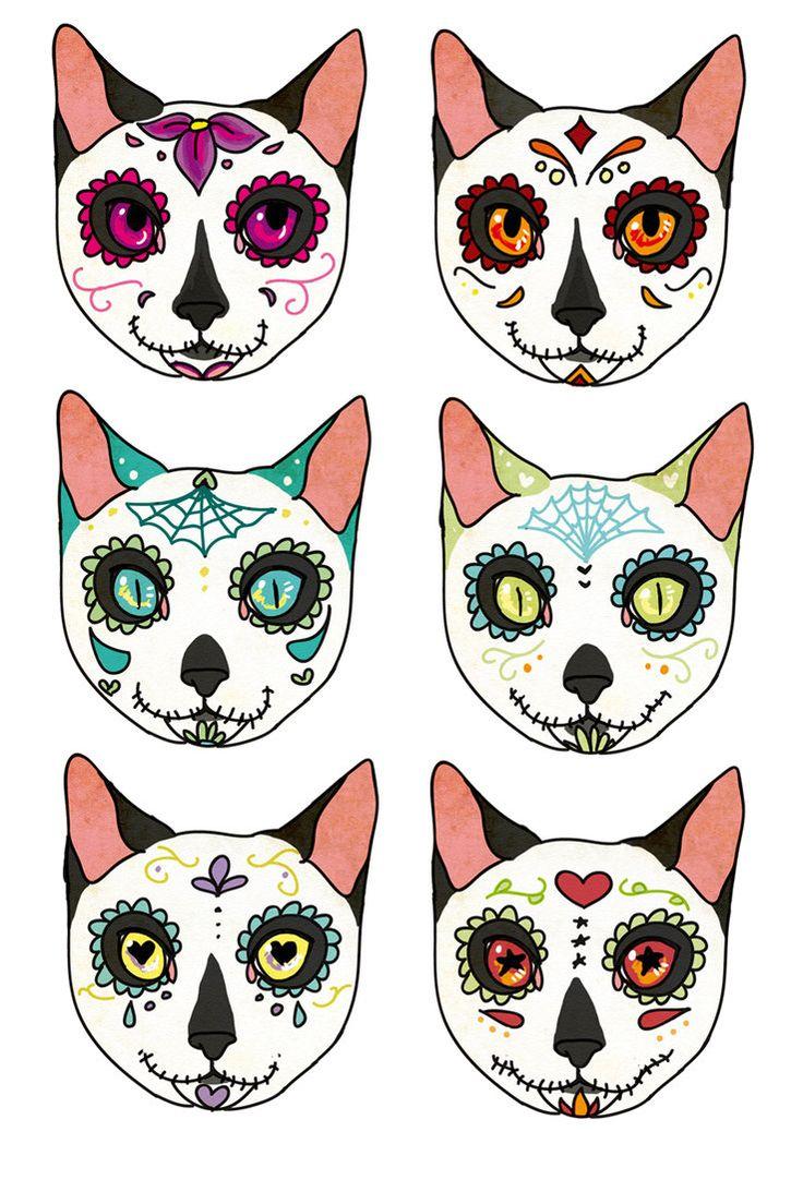 17 Best images about muerto sugar skulls on Pinterest.