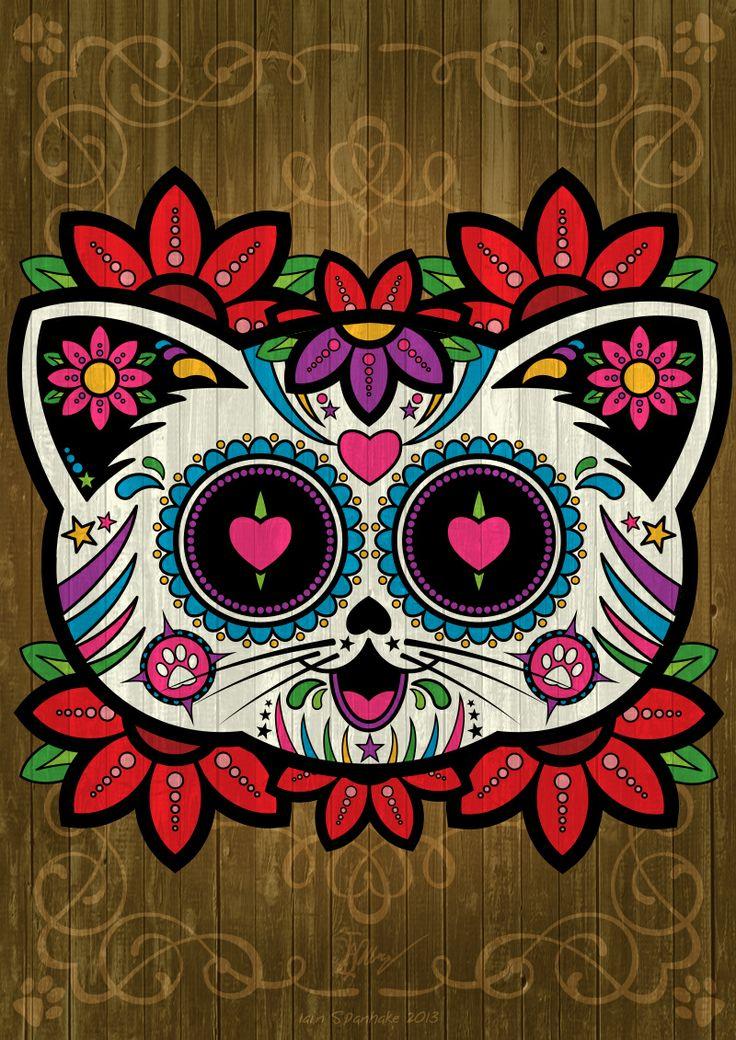 17 Best ideas about Sugar Skull Cat on Pinterest.