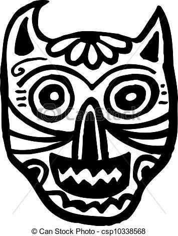 Cat Skull Clipart.