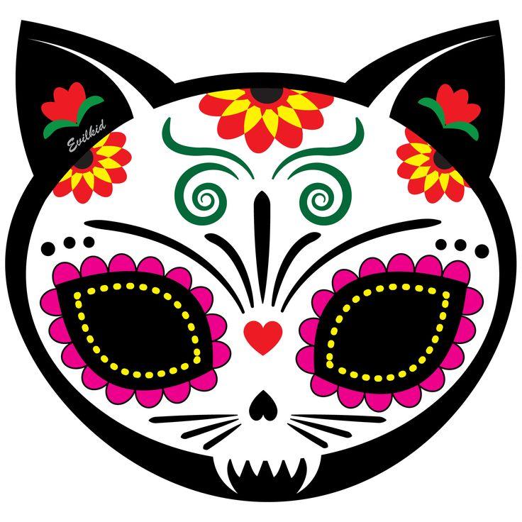 Sugar Skull Cat Clipart 20 Free Cliparts Download Images