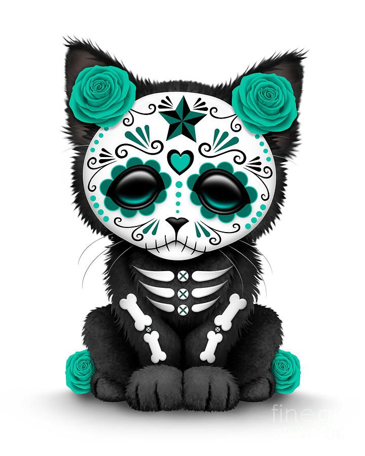Sugar Skull Cat Clipart Clipground