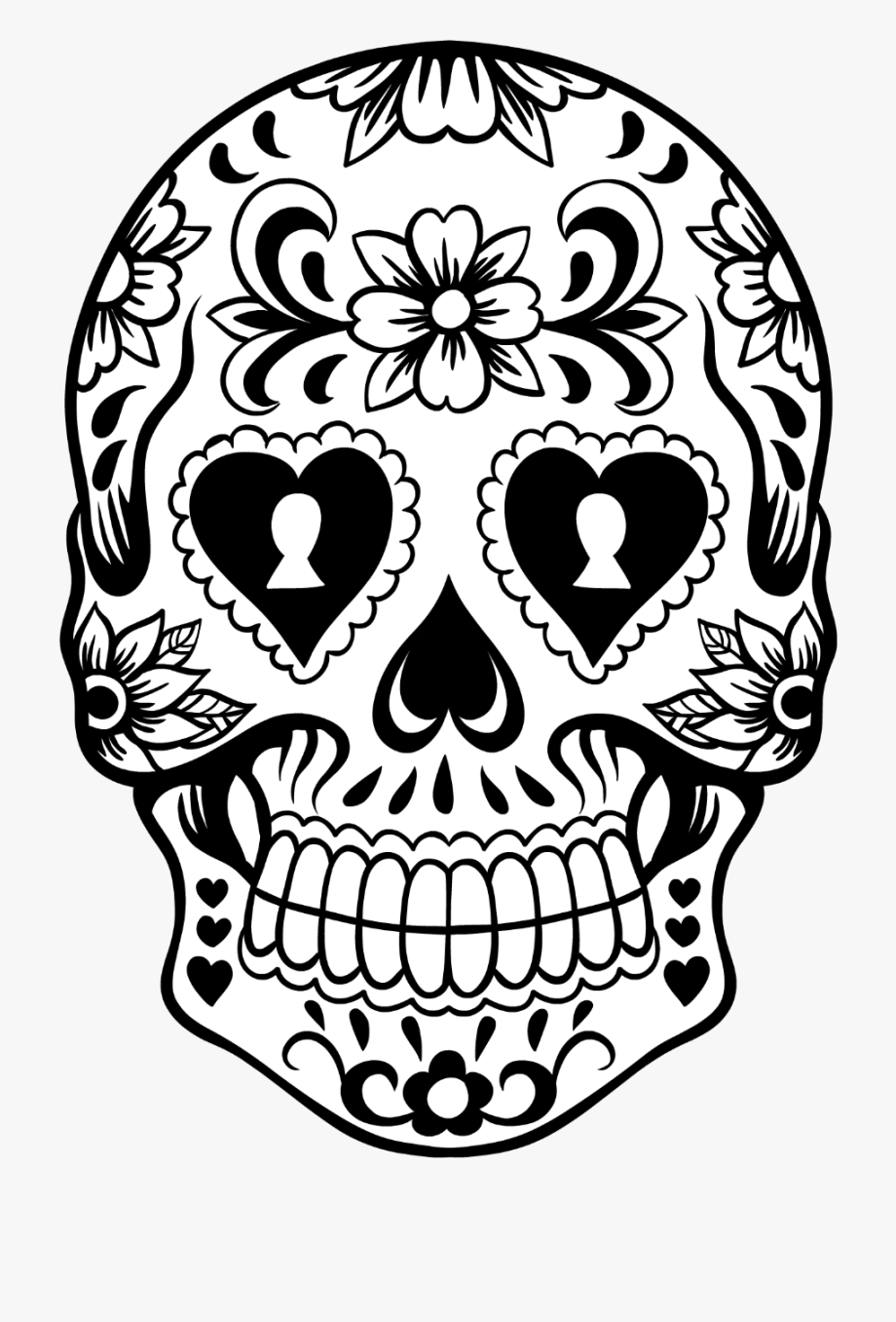 Skull Clipart Lace.