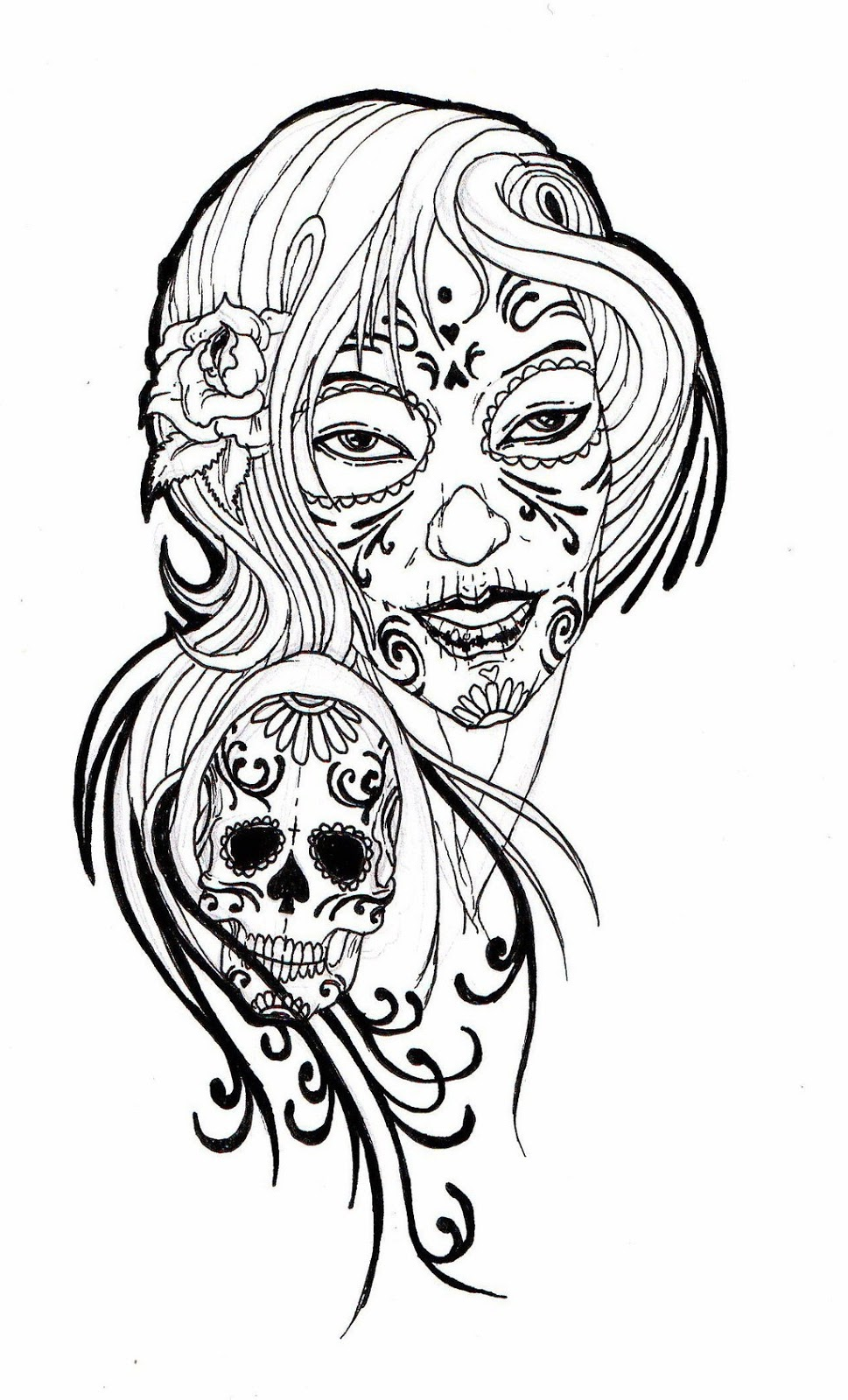 Sugar Skull Coloring Pages.