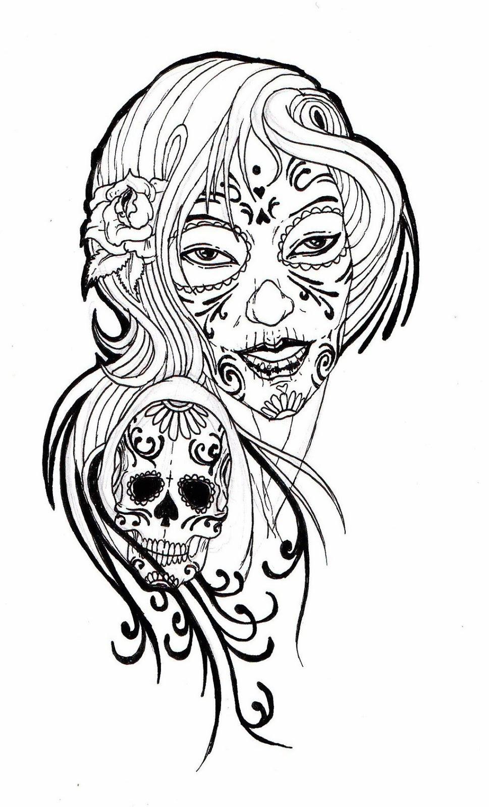 Sugar Skull Clipart Print Clipground