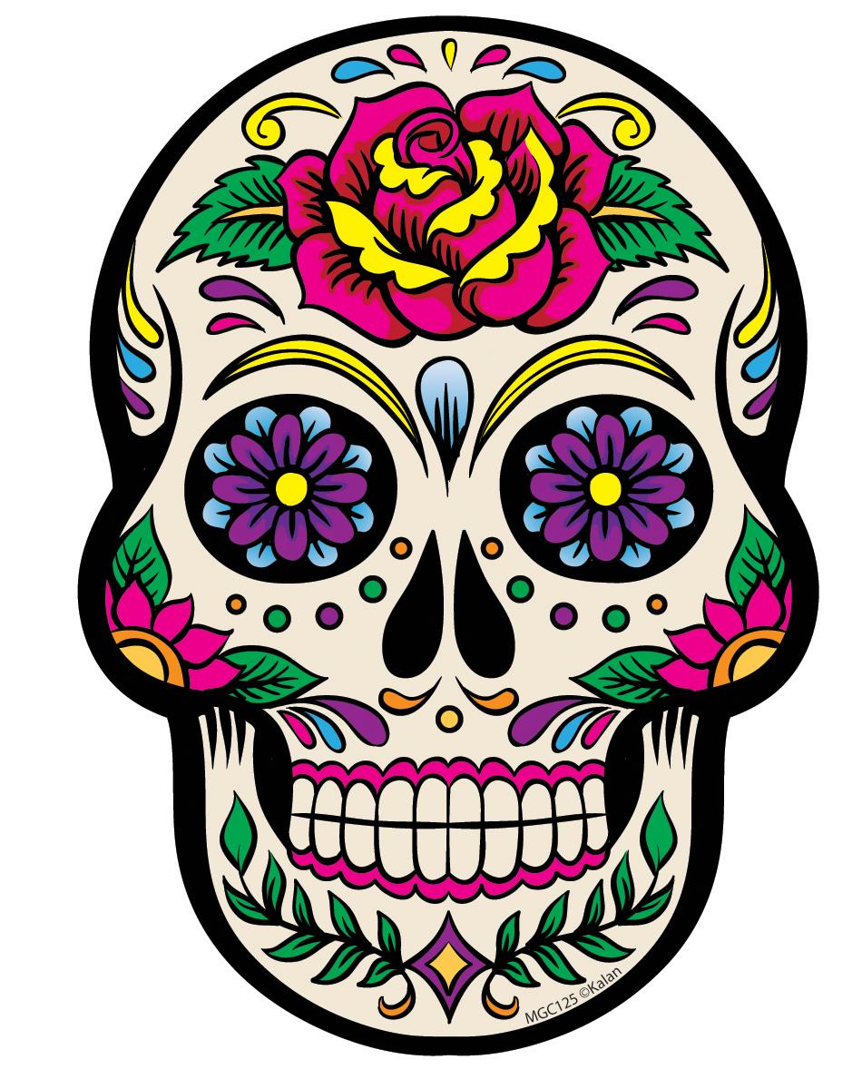 Colorful Sugar Skull Clipart.