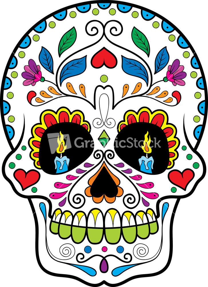 Sugar Skull Clipart For Home.