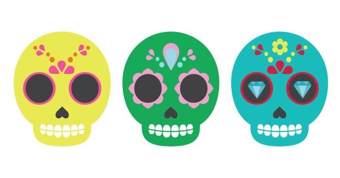 Sugar Skull Clip Art.