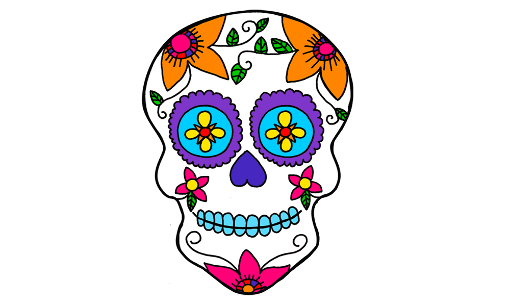 30 Free Printable Sugar Skull Coloring Pages.