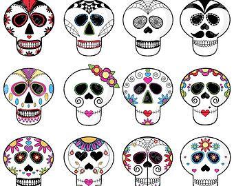 914 Sugar Skull free clipart.