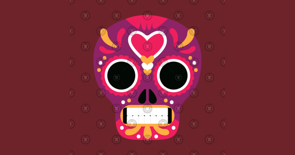 Calavera Tattoo Skull Day of the Dead Drawing, sugar skulls, calavera skull  illustration PNG clipart by dada124.