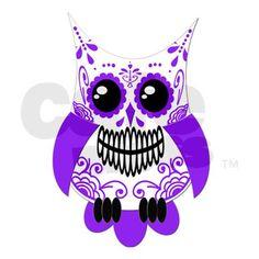 sugar skull owl sketch.