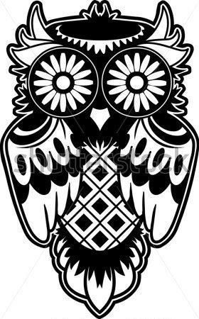 Sugar Owl Clipart.