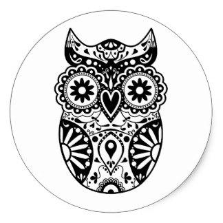Easy Sugar Skull Owl Clipart.