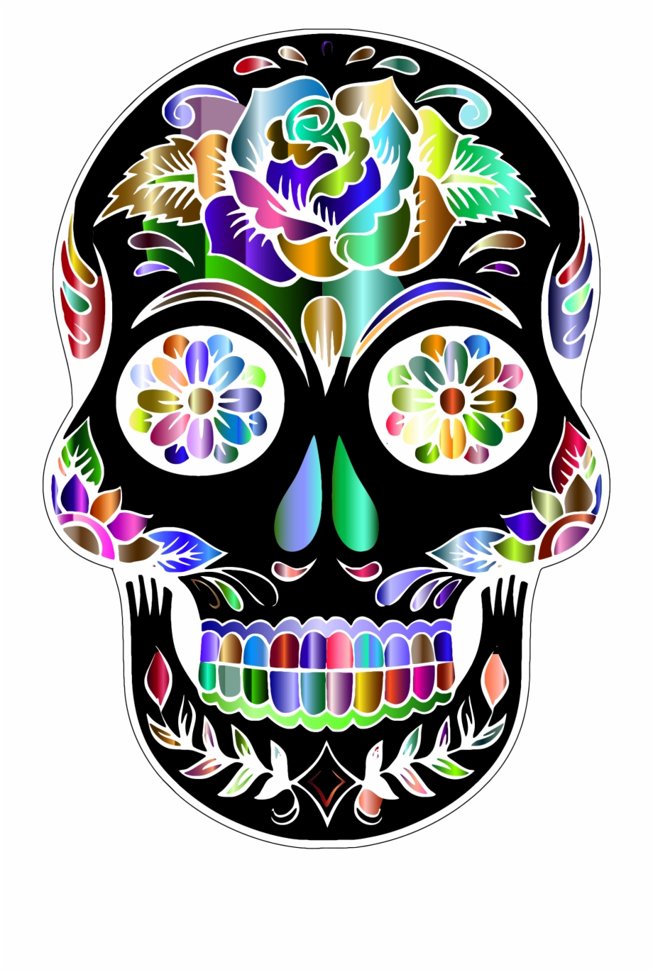 Sugar Skull Transparent Background.