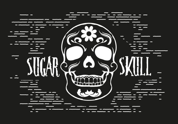Sugar Skull Vector Illustration.