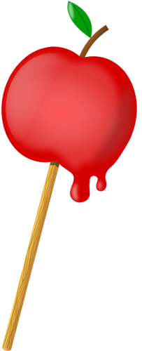 Vector clip art of sugar coated apple.