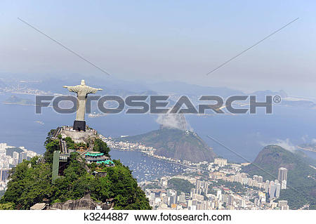 Picture of Christ Redeemer and Sugarloaf in Rio de Janeiro.