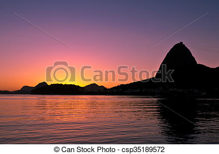 Picture of Sugarloaf Mountain Sunrise.