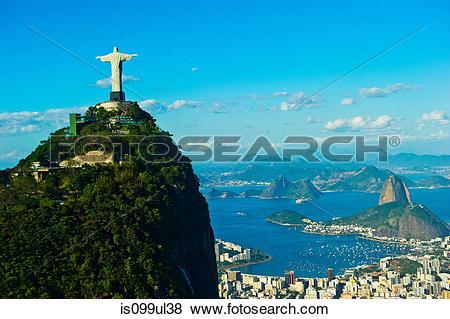 Pictures of Christ the Redeemer statue overlooking Rio de Janeiro.