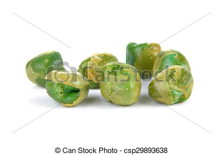 Stock Photos of Sugar pea with salt on white background.