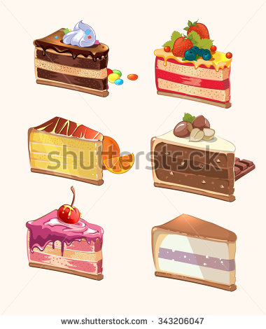 Piece Of Cake Stock Images, Royalty.