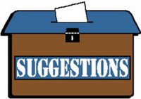 Free clipart suggestion box.