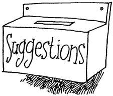 Suggestions Clipart.