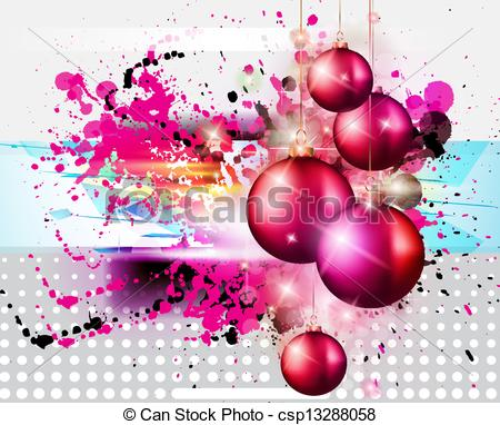 Clipart Vector of Merry Christmas Elegant Suggestive Background.