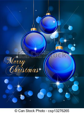 Clip Art Vector of Suggestive Elegant Christmas Backgrounds with.