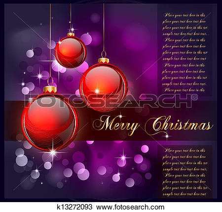 Clipart of Merry Christmas Suggestive Background k13272093.