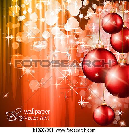 Clipart of Merry Christmas Elegant Suggestive Background k13287331.