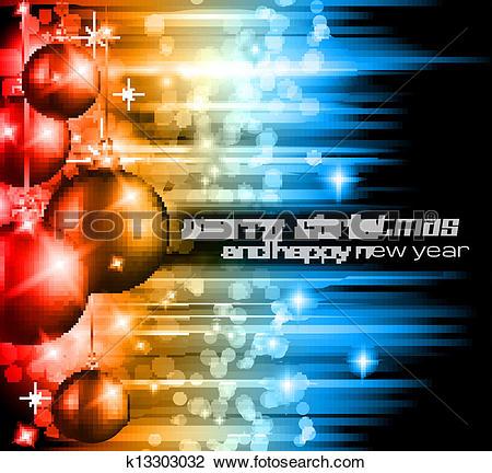 Clipart of Merry Christmas Elegant Suggestive Background k13303032.