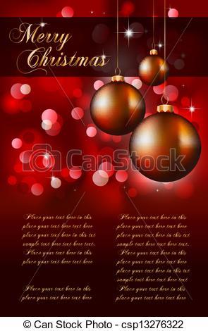 Vector Illustration of Suggestive Elegant Christmas Backgrounds.
