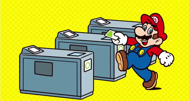 Here's Mario using a SUICA card ⊟ Ever wondered.